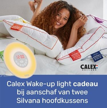 Calex Wake-up light cadeau bij aanschaf van twee Silvana hoofdkussens
